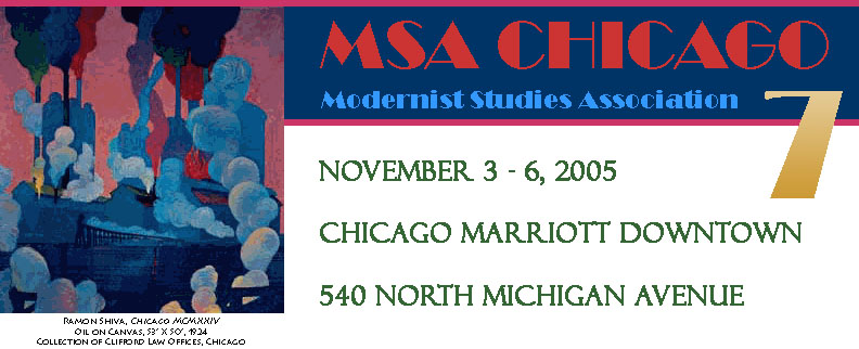 MSA Modernist Studies Association 7th Annual Conference